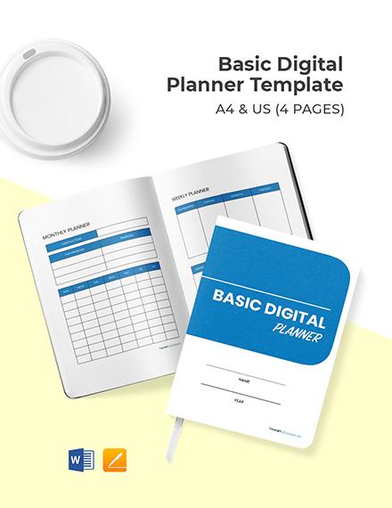 Free Basic Digital Planner Template