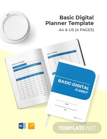 Free Basic Digital Planner Template