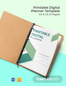 Free Printable Digital Planner Template