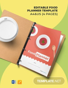 Free Editable Food Planner Template