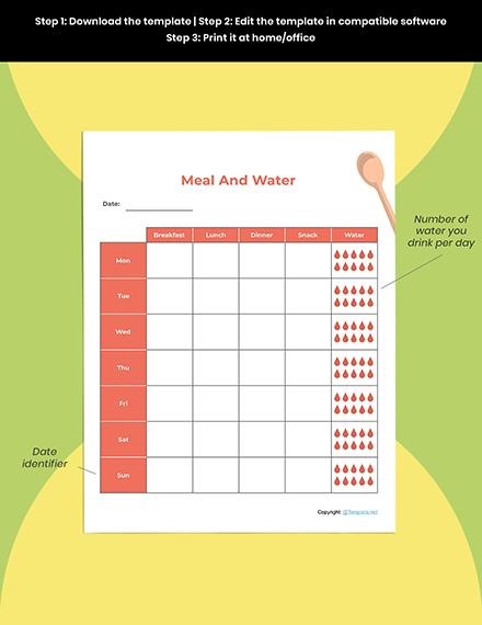 Editable Food Planner template Download