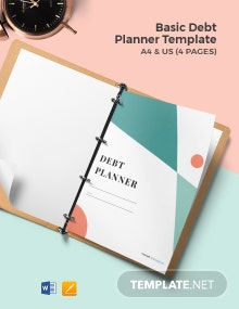 Free Basic Debt Planner Template