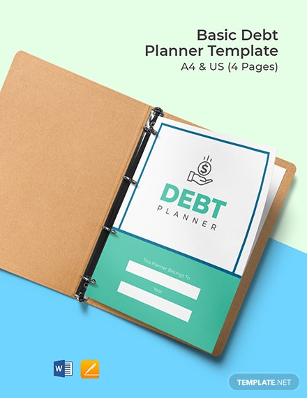 Free Sample Debt Planner Template