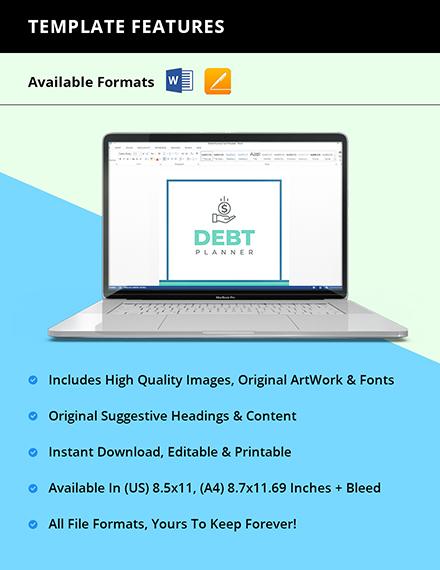 Sample Debt Planner Instruction