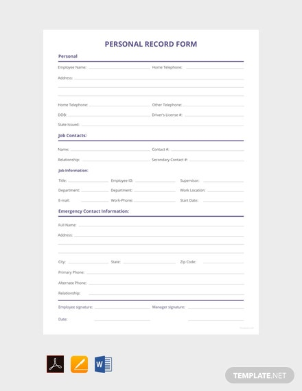 Free-Personnel-Record-Form-Template
