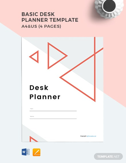 Basic Desk planner template