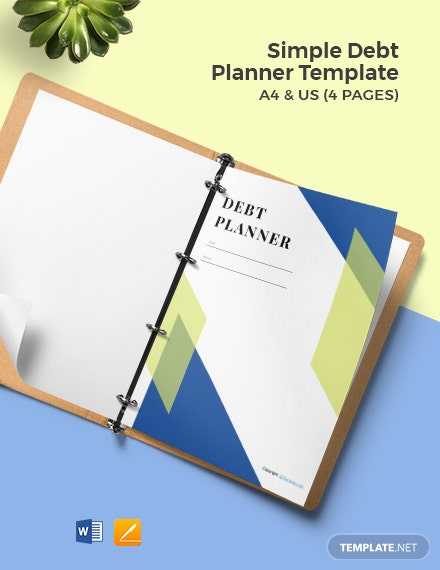 Free Simple Debt Planner Template