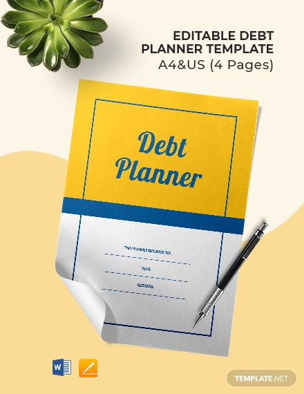Free Editable Debt Planner Template