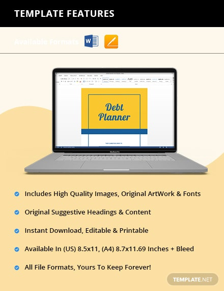 Editable Debt Planner Editable