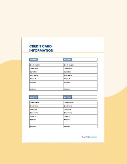Editable Debt Planner Format