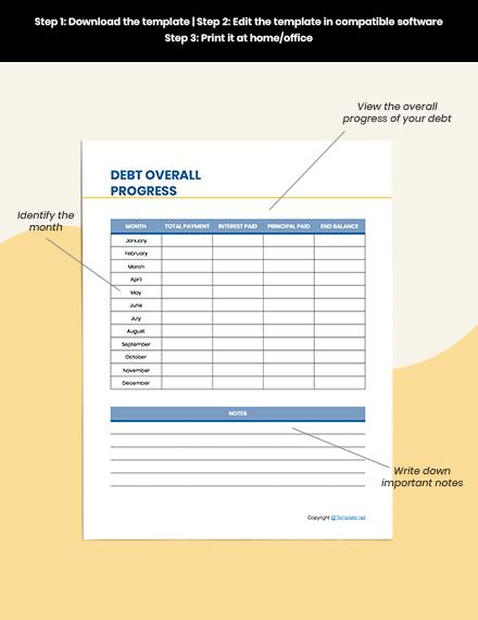 Editable Debt Planner Template
