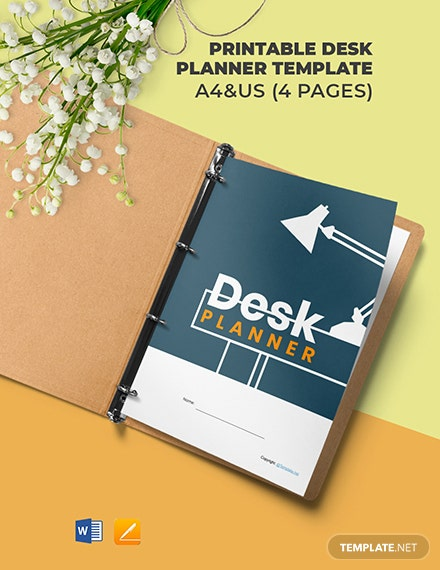 Free Printable Desk Planner Template