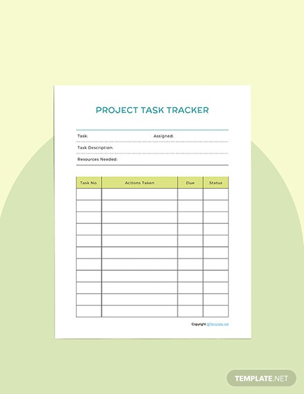 Editable Project planner Format