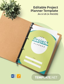 Free Editable Project Planner Template