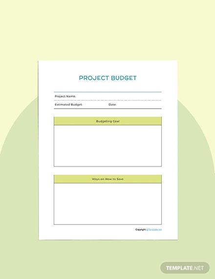 Sample Editable Project planner
