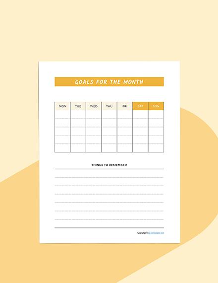 Sample Schedule planner Download