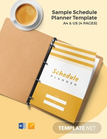 Free Sample Schedule Planner Template