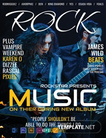 Free Rock Music Magazine Cover Template