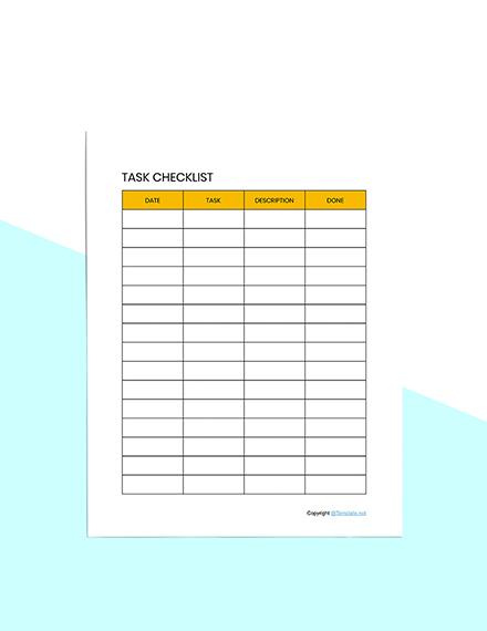 Editable Schedule planner template Sample