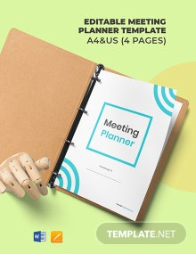 Free Editable Meeting Planner Template