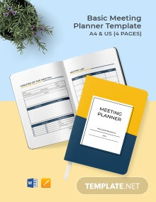 Free Basic Meeting Planner Template