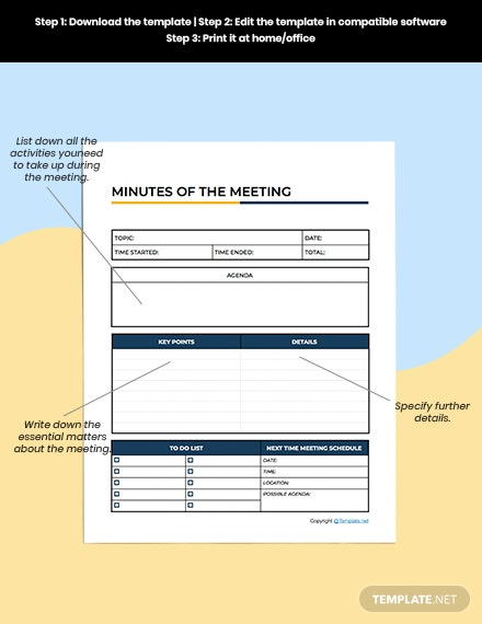 Basic Meeting Planner Editable