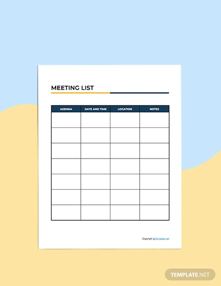 Basic Meeting Planner Example