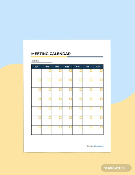 Basic Meeting Planner Template