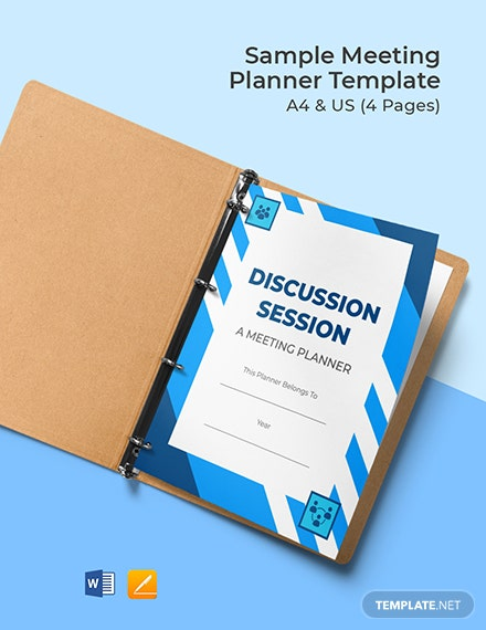 Free Sample Meeting Planner Template