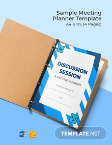 Free Sample Meeting Planner Template
