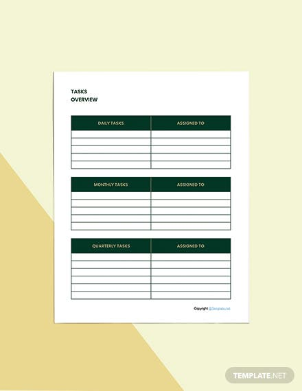 Basic Hotel Planner Template Download