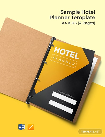 Sample Hotel Planner Template