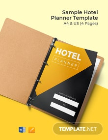 Free Sample Hotel Planner Template