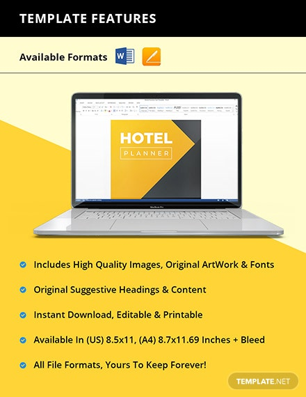 Sample Hotel Planner Instruction