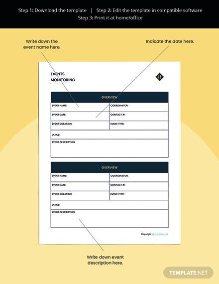 Editable Hotel Planner Template Format