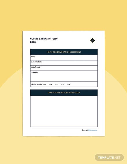 Editable Hotel Planner Template Example