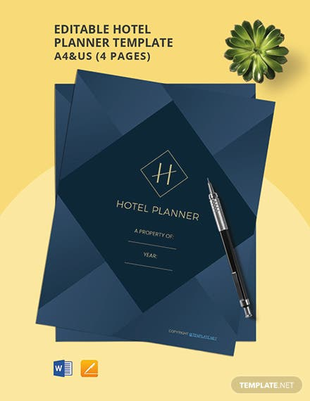 Free Editable Hotel Planner Template