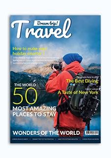 Modern Travel Magazine Cover Template