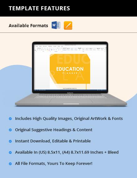 Sample Education Planner Instruction
