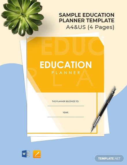 Free Sample Education Planner Template