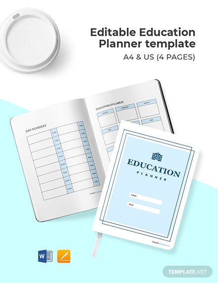 Editable Education Planner Template Format