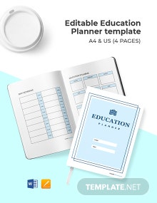 Free Editable Education Planner Template