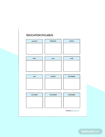 Editable Education Planner Template Download
