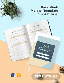 Free Basic Work Planner Template