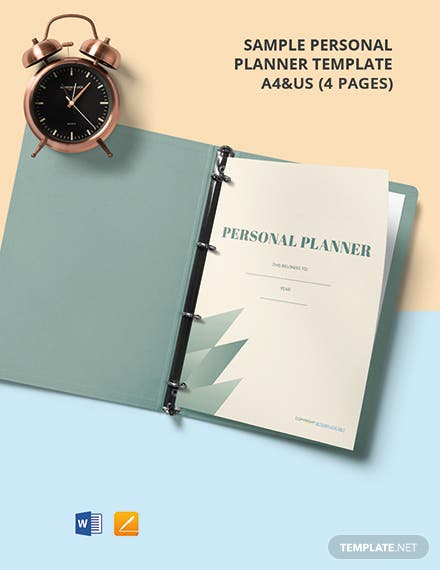 Free Sample Personal Planner Template
