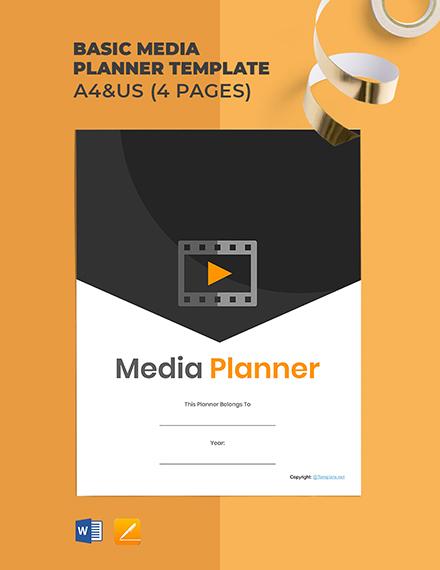 Free Basic Media Planner Template