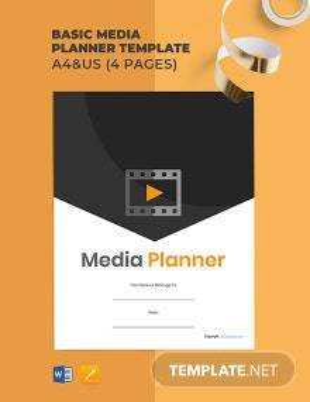 Basic Media Planner Template