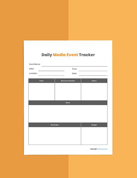 Basic Media planner template Format