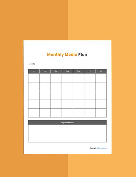 Basic Media planner template Sample