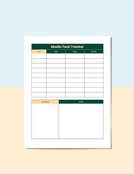 Sample Media Planner Template